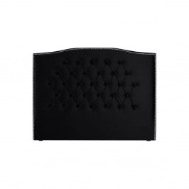 Čierne čelo postele Mazzini Sofas, 200 × 120 cm