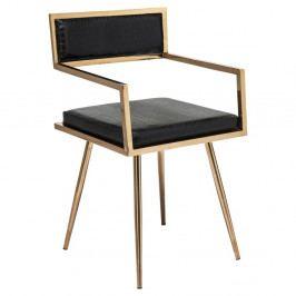 Stolička z antikoro ocele s koženým poťahom Kare Design Jazz