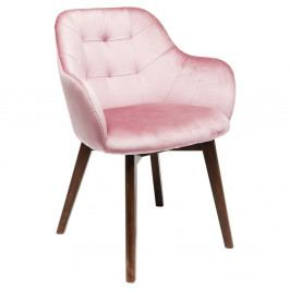 Ružová stolička s nohami z bukového dreva Kare Design