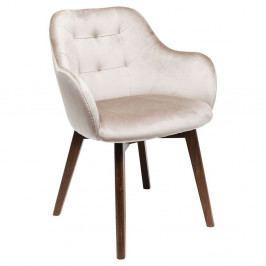 Béžová stolička s nohami z bukového dreva Kare Design