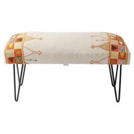 Farebná podnožka Kare Design Etno, dĺžka 80cm