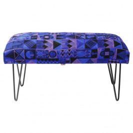 Modrá podnožka Kare Design Etno, dĺžka 80cm