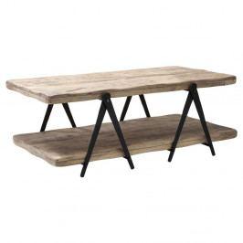 Konferenčný stolík z mangového dreva a kovu Kare Design Scissors, 120 x 65cm
