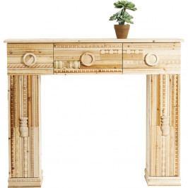 Dekoratívna kozubová rímsa z jedľového dreva Kare Design Ornaments