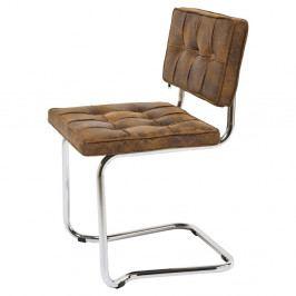 Hnedá stolička Kare Design Vintage