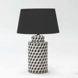Čierno-biela keramikcá stolová lampa bez tienidla Thai Natura, výška 51 cm
