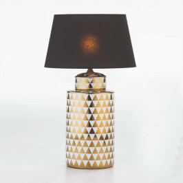 Keramická stolová lampa so vzorom v bielo-zlatej farbe bez tienidla Thai Natura, výška 51 cm