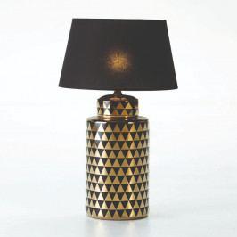 Keramická stolová lampa v čierno-zlatej farbe bez tienidla Thai Natura, výška 51 cm