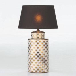 Keramická stolová lampa v bielo-zlatej farbe bez tienidla Thai Natura, výška 51 cm
