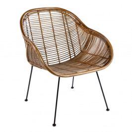 Hnedá prútená stolička Thai Natura