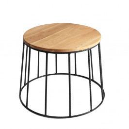 Konferenčný stolík a doskou v dekore dubového dreva Custom Form Memo, ⌀ 50 cm