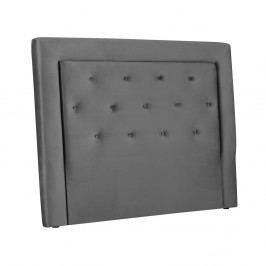 Sivé čelo postele Cosmopolitan Design Cloud, šírka 200 cm