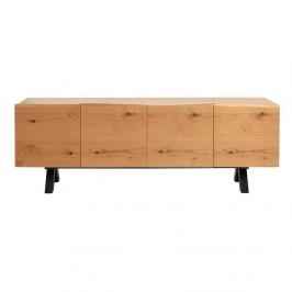 Nízka komoda z dreva bieleho duba Unique Furniture Oliveto