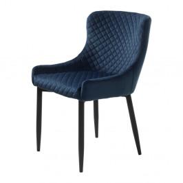 Tmavomodrá čalúnená stolička Unique Furniture Ottowa