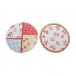 Sada 24 ozdobných papierikov na poháre s marmeládou s motívom patchworku Kilner