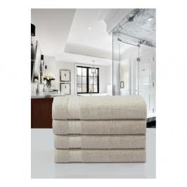 Sada 4 béžových bavlnených uterákov Muller Textiels, 50×100 cm