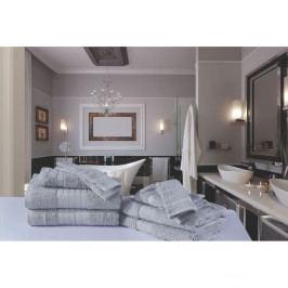 Kúpeľňový set osušiek a rukavíc z bavlny Muller Textiels Samino
