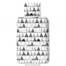 Obliečky na jednolôžko z čistej bavlny Muller Textiels Rassano Russeno, 120×150 cm