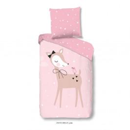 Obliečky na jednolôžko z čistej bavlny Muller Textiels Pinkie, 120×150 cm