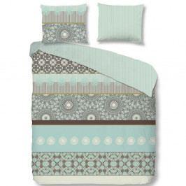Pastelovozelené obliečky na jednolôžko z bavlneného saténu Muller Textiels Good Morning Aladin, 140×200 cm