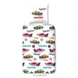 Detské obliečky na jednolôžko z bavlny Muller Textiels Good Morning Formule 1, 140×200 cm