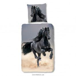 Detské obliečky na jednolôžko z čistej bavlny Muller Textiels Horse, 140×200 cm