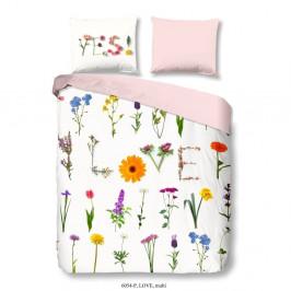 Obliečky na jednolôžko z bavlny Muller Textiels Good Morning Love, 140×200 cm