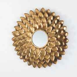 Nástenné zrkadlo s rámom v zlatej farbe Thai Natura, ⌀73 cm
