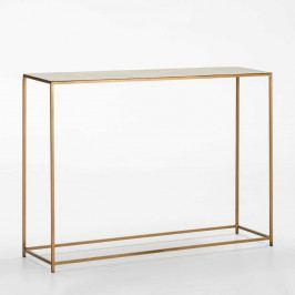 Konzolový stolík v zlatej farbe Thai Natura Blaumanne, dĺžka102 cm