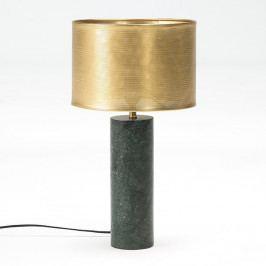Stolová lampa s mramorovou základňou a detailmi v bronzovej farbe Thai Natura