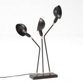 Čierna stolová lampa Thai Natura Laas