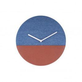 Modro-hnedé nástenné hodiny Karlsson Surfer, Ø 30 cm