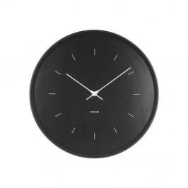Čierne nástenné hodiny Karlsson Butterfly, Ø 37,5 cm