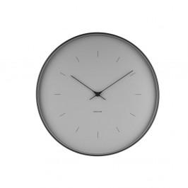 Sivé nástenné hodiny Karlsson Butterfly, Ø 37,5 cm