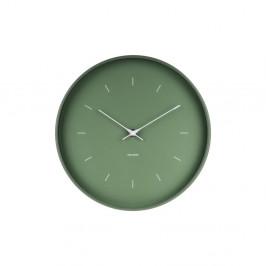 Zelené nástenné hodiny Karlsson Butterfly, Ø 27,5 cm