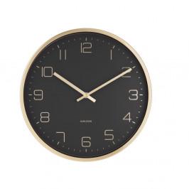 Čierne nástenné hodiny Karlsson Elegance