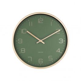 Zelené nástenné hodiny Karlsson Elegance