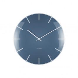 Modré nástenné hodiny Karlsson Boxtel & Buijs