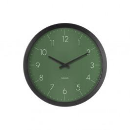 Zelené nástenné hodiny Karlsson Dainty