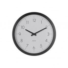 Sivé nástenné hodiny Karlsson Dainty