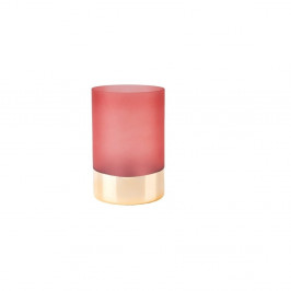 Ružovo-zlatá váza PT LIVING Glamour, výška 15 cm