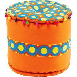 Oranžová stolička Kare Design Flick Flack, ∅ 45 cm