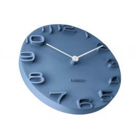 Modré hodiny Karlsson On The Edge, Ø 42 cm