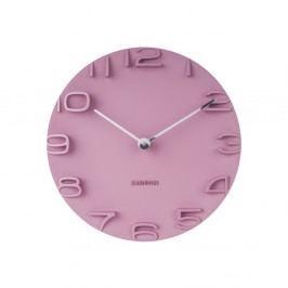 Ružové hodiny Karlsson On The Edge, Ø 42 cm