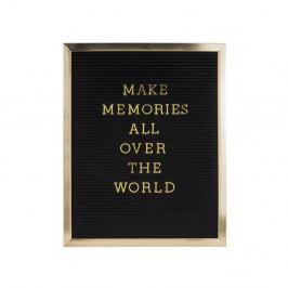 Fotorám so zlatým nápisom PT LIVING Quote, 40×50 cm