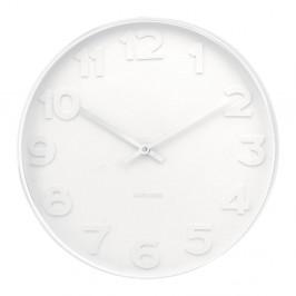 Biele hodiny Karlsson Dentist, Ø 51 cm