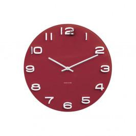 Červené hodiny Karlsson Vintage, Ø 35 cm