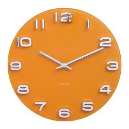 Oranžové hodiny Karlsson Vintage, Ø35 cm