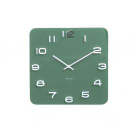 Zelené hodiny Karlsson Vintage, 35×35 cm