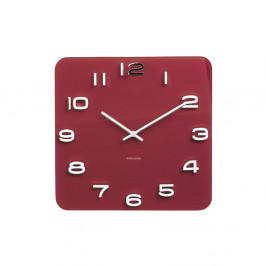 Červené hodiny Karlsson Vintage, 35×35 cm